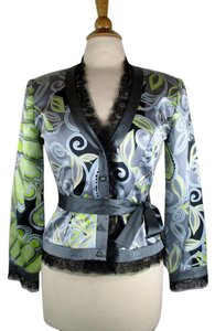 JS Collections Collection 100 Silk Basic Multi-Color Jacket