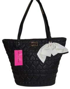 Betsey Johnson Perforated Tote in black