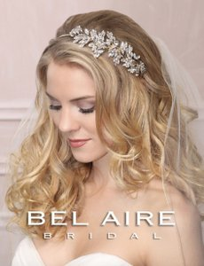 Bel Aire Bridal Rhinestone Headband With Side Design