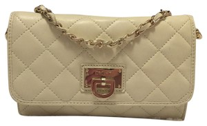 DKNY Lambskin Quilted Gold Hardware Cross Body Bag
