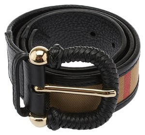 Burberry Burberry Black Leather Belt, Size 32/80 (26094)