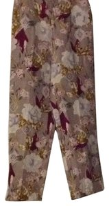 Dana Buchman Straight Pants Taupe, gold, burgundy, cream