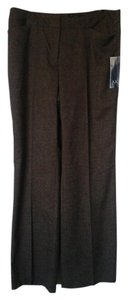 Anne Klein Straight Pants Brown Tweed