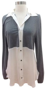 Derek Lam Top gray and ivory