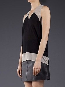 Helmut Lang Tan Beige Top Black