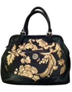 Nica Satchel in Black Gold