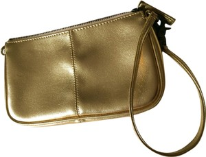 Gap Faux Leather Wristlet in Gold