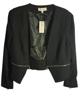 Other Zipper Cropped Philosophy Black Blazer