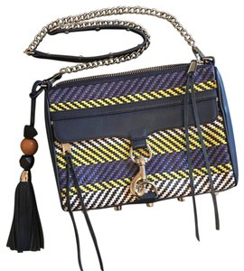 Rebecca Minkoff Woven Clutch Leather Cross Body Bag