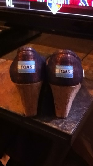 TOMS Metallic Purple/Gold Wedges
