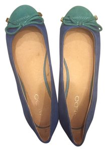 ALDO Suede Flat Spring Summer Green and Blue Flats