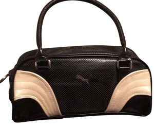 Puma black with white and gold detail Clutch
