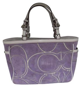 Coach Tote in Purple White