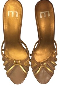 Other Medium Height Summer Spring Gold and Brown Sandals