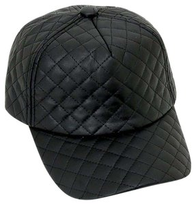 Modern Edge Quilted faux leather baseball cap