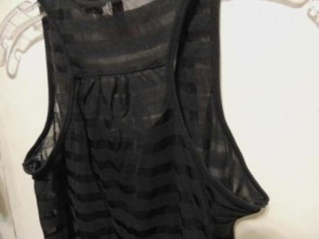 Divided by H&M Striped Sheer Racerback Top Black
