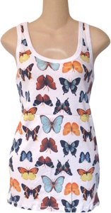 Arizona Jeans Company Xl Cotton Butterfly Print Top