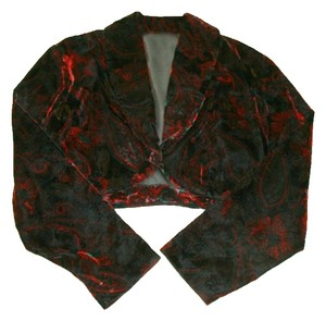 Contempo Casuals Bolero Jacket Top Maroon