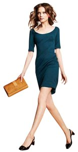 Zac Posen short dress Blue Green Structured Sheath on Tradesy