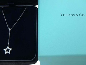 Tiffany & Co. Tiffany & Co. Plantium and Diamond Star Pendant