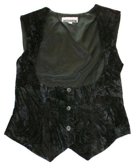 Item - Crushed Velvet Black Top