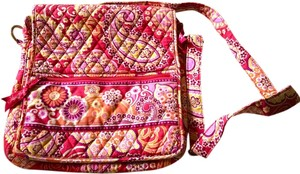 Vera Bradley Raspberry Fizz Orange Paisley Mailbag Crossbody Pink Messenger Bag