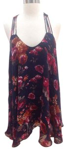 Lucy Paris short dress navy floral on Tradesy
