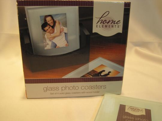 Other Photo Coasters; 4-Glass Coasters with Wood Holder from Home Elements - [ Roxanne Anjou Closet ]