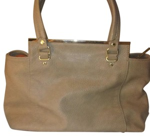 Olivia + Joy Satchel in Tan/ Orange