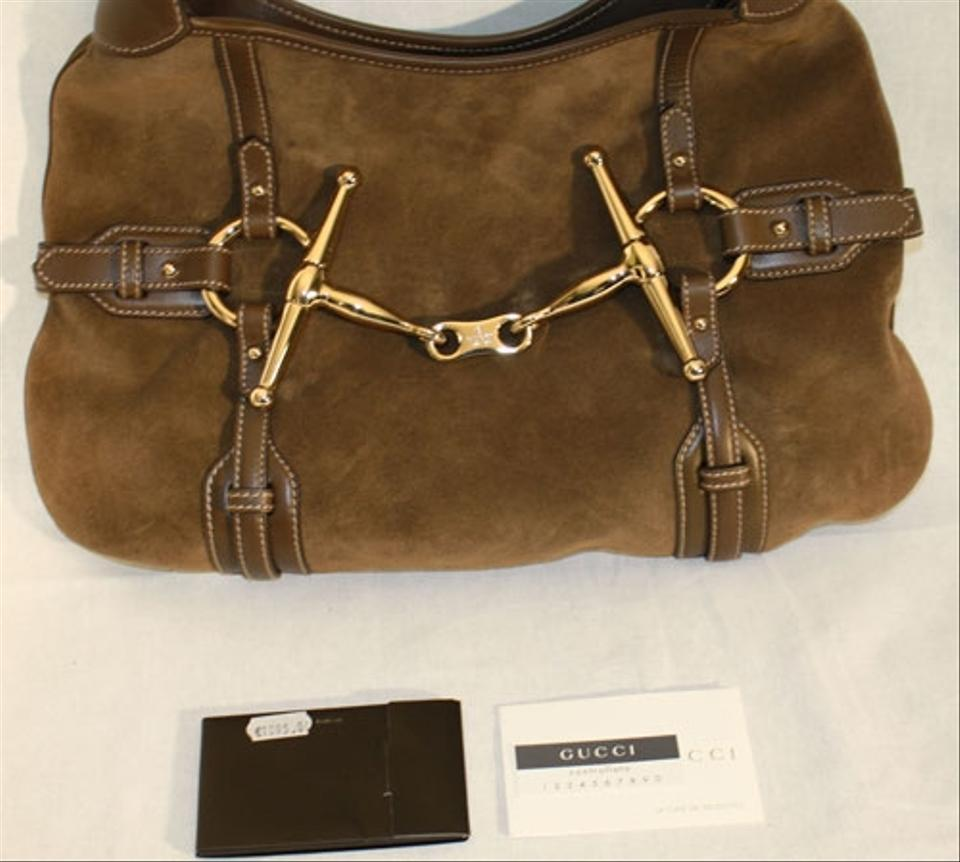91625c7d447a Gucci Limited Edition 85th Anniversary Never Used Mushroom Suede and Leather  Hobo Bag - Tradesy