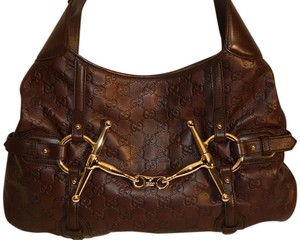 Gucci Vintage Leather Monogram Limited Edition Anniversary Hobo Bag