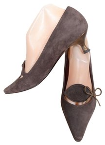 Salvatore Ferragamo Suede Pump Heel brown Pumps