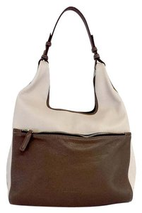 Jil Sander Taupe Brown Leather Tote