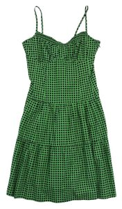 Nanette Lepore short dress Green & Navy Polka Dot on Tradesy