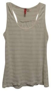 Divided by H&M Sheer Striped Racerback Top White