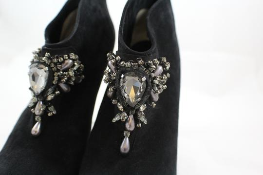 Paul Andrew Jewel Embellished Suede Black Boots
