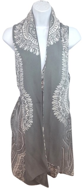 Thakoon Panel Overlay Detail Belted Silk Wrap Above Knee
