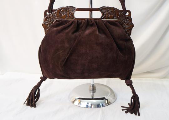 Valentino Vintage Suede Purse Handbag Shoulder Bag