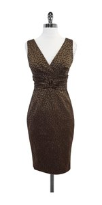 Kay Unger short dress Brown Leopard Print Sleeveless on Tradesy