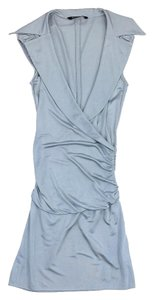 Black Halo short dress Light Blue Cap Sleeve on Tradesy