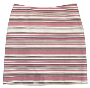 Michael Kors Multi Color Striped Cotton Skirt