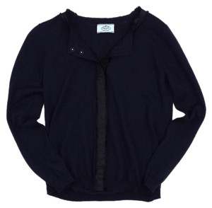 Prada Navy & Black Wool Cardigan