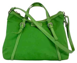 Kate Spade Green Nylon Leather Shoulder Bag