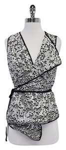 ADAM Black & White Sequin Vest