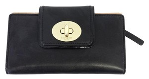 Kate Spade Black Leather Bifold Wallet