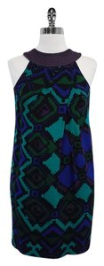 Nicole Miller short dress Black & Blue Multi Color on Tradesy