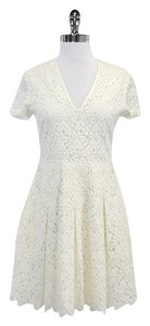 Paul & Joe short dress Cream Floral Lace Short Sleeve on Tradesy