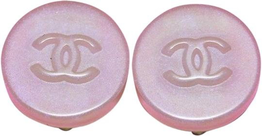 Chanel [ENTERPRISE]Iridescent CC Resin Stud Clip On Earrings CCJY37 41CCA606