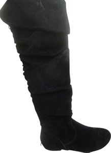 Shiekh Suede Winter Flat Boot Warm black Boots