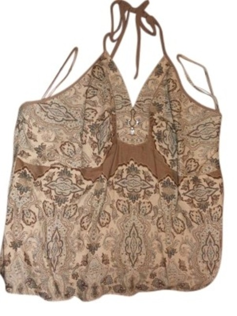 Preload https://img-static.tradesy.com/item/156549/lane-bryant-tanbrownblue-blouse-halter-top-size-20-plus-1x-0-0-650-650.jpg